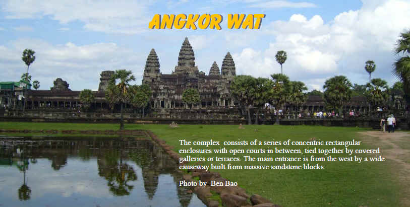 Angkor Wat lanscape view