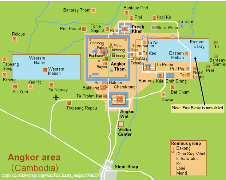 Angkor Archaeological Park Map